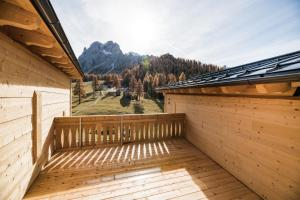 A balcony or terrace at Rotwandwiesen Chalets SKI IN/OUT - 1900mt