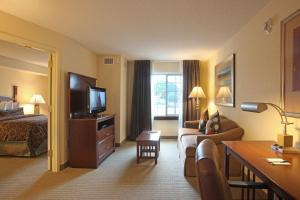 A television and/or entertainment center at Staybridge Suites North Brunswick