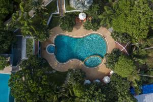 Blick auf Ban's Diving Resort aus der Vogelperspektive