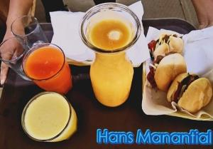 Breakfast options available to guests at Club Hans Manantial