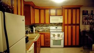 A kitchen or kitchenette at The hip hop hotels