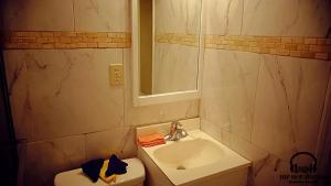 A bathroom at The hip hop hotels