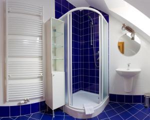 Koupelna v ubytování Havířská bouda