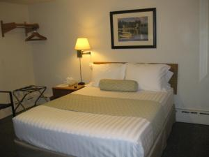 A bed or beds in a room at Boyne City Motel
