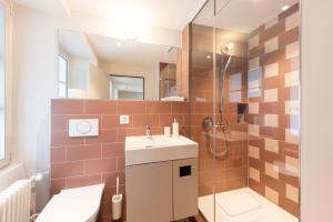 Ein Badezimmer in der Unterkunft Hotel an der Aare Swiss Quality
