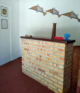 O saguão ou recepção de Tirol da Carol Beach Hostel