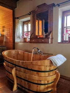A bathroom at Apartmány Červený Dvůr