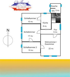 The floor plan of Villa Kaethe Borby