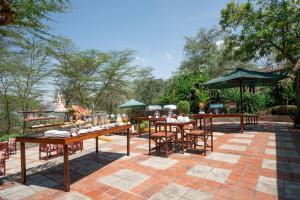 A restaurant or other place to eat at Sarova Lion Hill Game Lodge