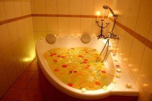 Koupelna v ubytování Chalupa Bella