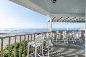 A balcony or terrace at The Beach House Inn