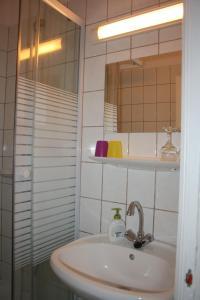 A bathroom at Partvilla Balatonboglar