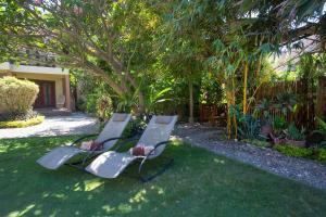 A garden outside Reef Retreat Resort