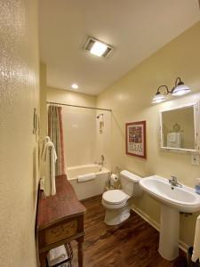 A bathroom at Comal Inn
