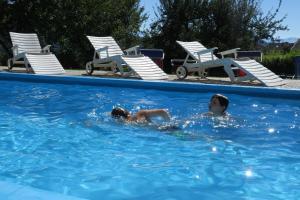 Der Swimmingpool an oder in der Nähe von Garni Tschutscherhof