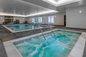 The swimming pool at or near Hyatt Place Anchorage-Midtown