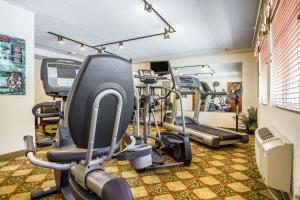The fitness center and/or fitness facilities at Quality Inn & Suites Evergreen Hotel