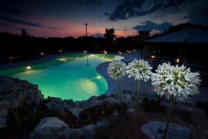 Vista sulla piscina di Masseria Tenuta Specolizzi o su una piscina nei dintorni