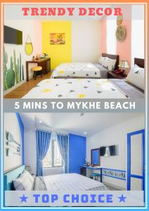 A bed or beds in a room at Dreamy Beach - Boutique Hotel