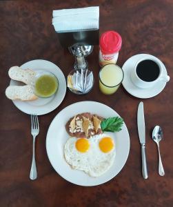 Možnosti snídaně pro hosty v ubytování Hi Hotel Impala Queretaro