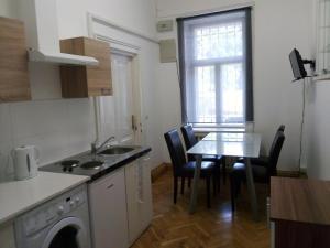 Küche/Küchenzeile in der Unterkunft Raisa Apartments Fünkhgasse