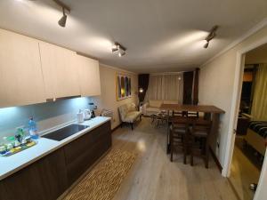 Una cocina o zona de cocina en Mojens Suites Santiago