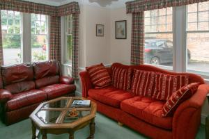 A seating area at The Garden House B&B