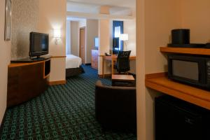 A television and/or entertainment center at Fairfield Inn & Suites Kennett Square