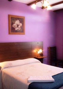Cama o camas de una habitación en Apartamentos Rurales Sierra de Béjar