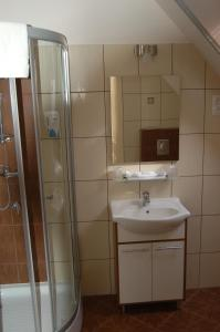 A bathroom at Hotel Tókert