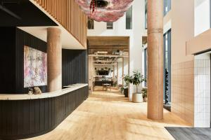 The lobby or reception area at The Collective Canary Wharf