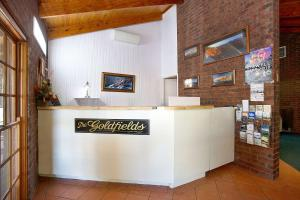 The lobby or reception area at Goldfields Motel