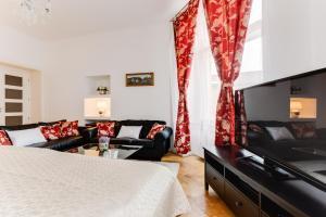 TV o dispositivi per l'intrattenimento presso Old Town Square Royal Apartment