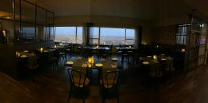 A restaurant or other place to eat at Hotel Laki