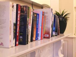 The library in the condo hotel