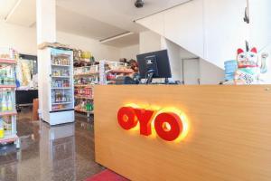 The lobby or reception area at OYO 1670 Likko Inn