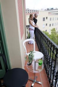 Een balkon of terras bij Apart-Suites Hostemplo