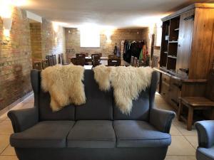 Lounge oder Bar in der Unterkunft Apartment Felswelten