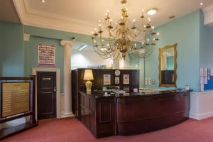 The lobby or reception area at The Royal Albion Seafront Hotel