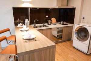 新竹安捷國際酒店廚房或簡易廚房