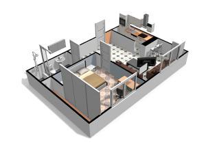 The floor plan of Bello Oriente II