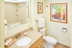 A bathroom at Aston Kaanapali Shores