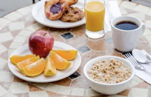 Breakfast options available to guests at Monte Carlo Inn Oakville Suites