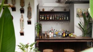 The lounge or bar area at Mane Boutique Hotel & Spa