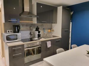 A kitchen or kitchenette at Appartement Villiers sur Morin proche de Disneyland
