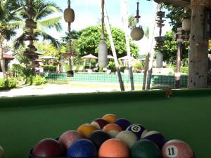 A pool table at Coco Lanta Resort
