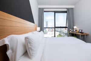ONOMO Hotel Casablanca City Centerにあるベッド