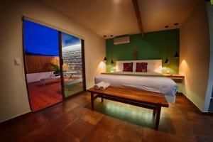 Cama o camas de una habitación en Casa De Sierra Azul