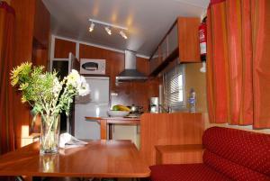 Een keuken of kitchenette bij Bungalows Pirineus