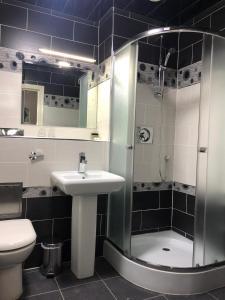 A bathroom at The Birmingham Hotel